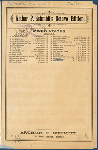 Two Northern songs: op. 43, I. No. 1 The brook [vocal score]