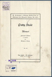 Minuet: four-part chorus a cappella for women's voices. [vocal score]