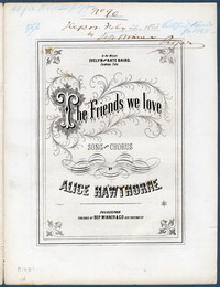 The friends we love: song and chorus. [vocal score]