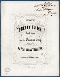 """Pretty to me"": song & chorus. [vocal score]"