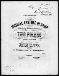Petersburg polka [sheet music]