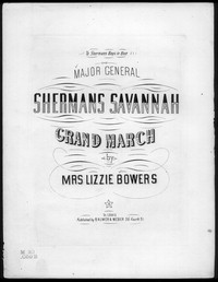 Shermans Savannah march [sheet music]