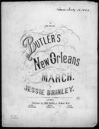 Butler's New Orleans march [sheet music]