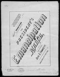 The President's emancipation march [sheet music]