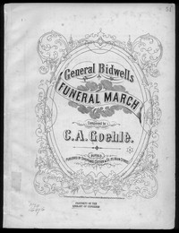 General Bidwell's funeral march [sheet music]