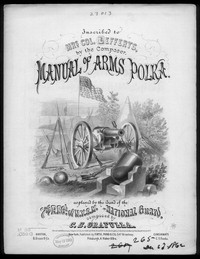 Manual of arms polka [sheet music]