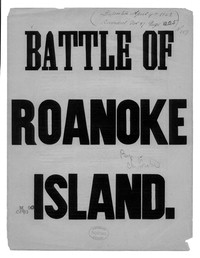 The Battle of Roanoke Island [sheet music]