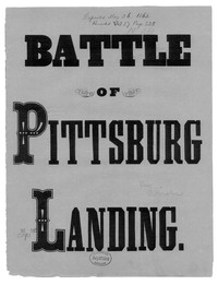 The Battle of Shiloh, or Pittsburgh Landing [sheet music]