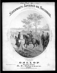 Sherman's advance on Savannah, gallop (sic) [sheet music]