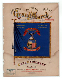 Freedom, truth and right, grand march [sheet music]