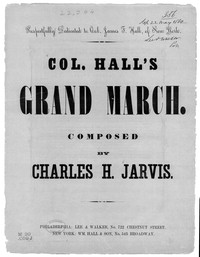 Col. Hall's grand march [sheet music]