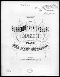 Surrender of Vicksburg march [sheet music]