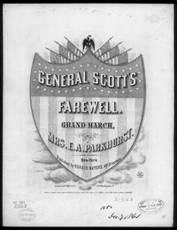 General Scott's farewell, grand march [sheet music]