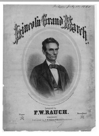 Lincoln grand march [sheet music]