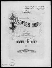 The People's song [sheet music]