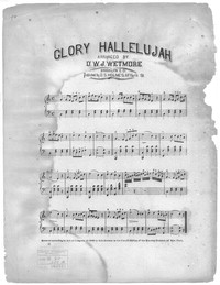 Glory hallelujah [sheet music]