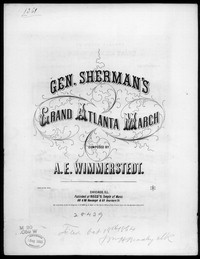 General Sherman's grand Atlanta march [sheet music]