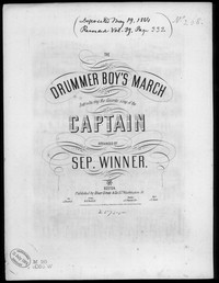 Drummer boy's march [sheet music]