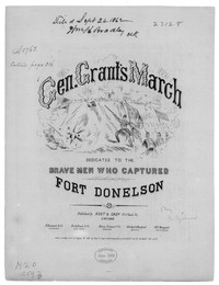 General Grant's march [sheet music]