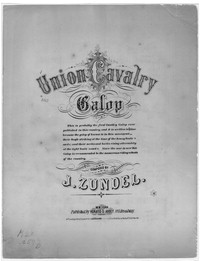 Union cavalry galop [sheet music]