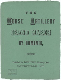 Horse artillery grand march [sheet music]