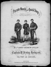 Grand parade march of the 5th Company Washington Artillery [sheet music]