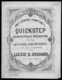 Maj. General Hampton's quickstep [sheet music]