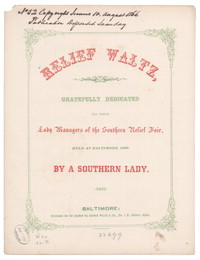 Relief waltz [sheet music]