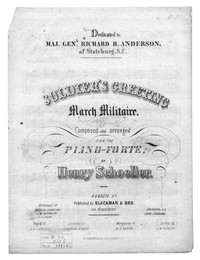 Soldier's greeting, march militaire [sheet music]