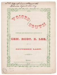 Voices from the south [sheet music]