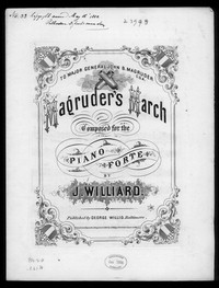 Magruder's march [sheet music]