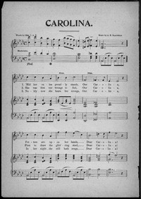 Carolina [sheet music]