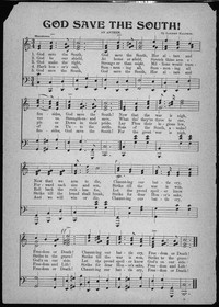 God save the south! [sheet music]