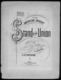 Stand by the Union [sheet music]