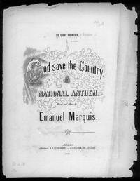 God save the country, a national anthem [sheet music]