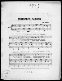 Somebody's darling [sheet music]