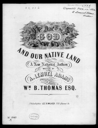God! And our native land, a new national anthem [sheet music]
