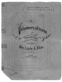 The Volunteer's call to arms [sheet music]