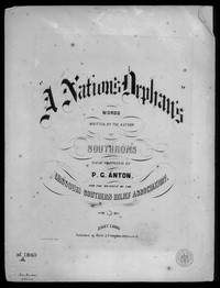 A Nation's orphans [sheet music]