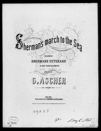 Sherman's march to the sea [sheet music]