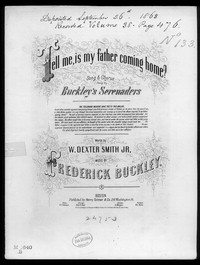 Tell me, is my father coming home? [sheet music]
