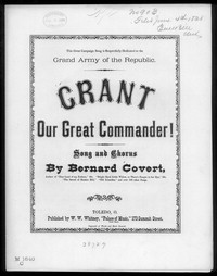 Grant, our great commander [sheet music]