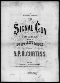 The Signal gun [sheet music]