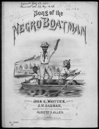 Song of the negro boatman [sheet music]
