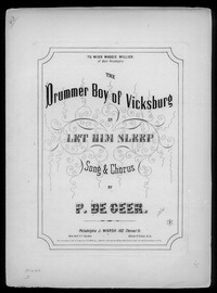 The Drummer of Vicksburg [sheet music]