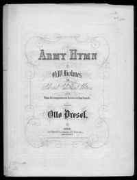 Army hymn [sheet music]