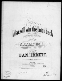 Mac, will win the Union back [sheet music]