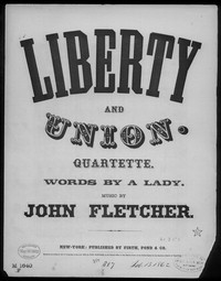 Liberty and union [sheet music]