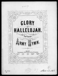 Glory! hallelujah! [sheet music]
