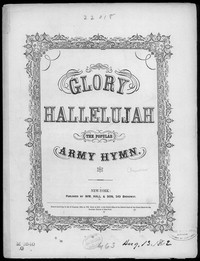 Glory hallelujah! [sheet music]